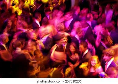 A dancing crowd