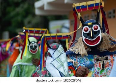 diables dansants de chuao le jour du Corpus Christi à Chuao Venezuela Amérique du Sud