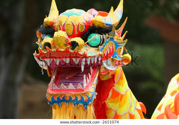 Dancing Dragon in Chinese New Year Festival