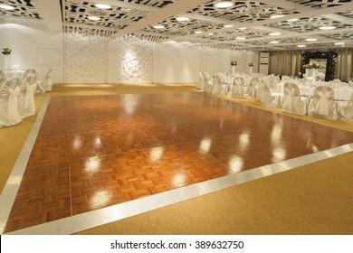 dancing floor in wedding ballroom