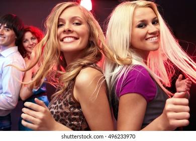 Dancing girlfriends