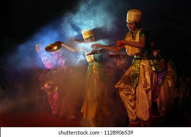 Dancing Girls in the spot light, Picture taken date-23/11/2013 Time-09:01 at Itanagar, Arunachal Pradesh, North East , India