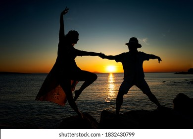 Dancing on the coast of the Adriatic sea