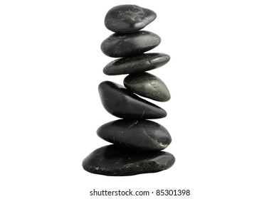 dancing pebbles isolated on white