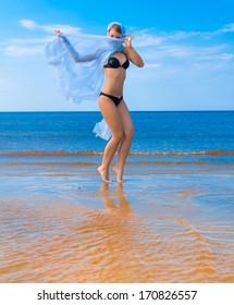 Dancing Posing Beach