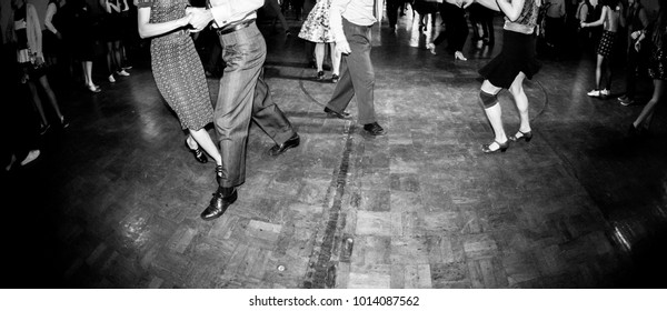 Dancing at the vintage music party