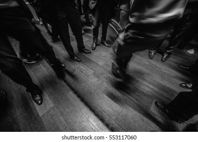 dancing in a wedding party