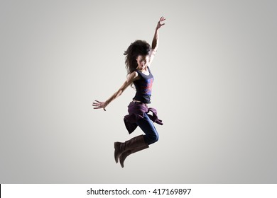 Women dancing wildly to rock music naked