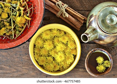 Dandelion tea made of flowers with cancer fighting properties