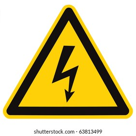 "Vintage Warning Sign /""High Voltage/"" Made in Poland Industrial Signage"
