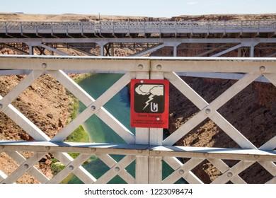 Danger: Electrocution Risk! Navajo Bridge over the Colorado River
