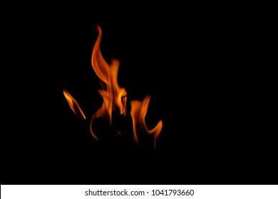 danger flames.hot flame heat fire abstract black background. concept:burn,blaze , Heat , Lighting , warm