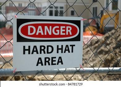 Danger Hard Hat Construction Area