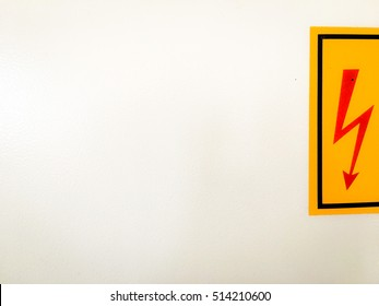 Danger of high voltage. A fire hazard. Life-threatening. High Voltage Sign. Warning icon. Fire extinguisher, high voltage stay away.