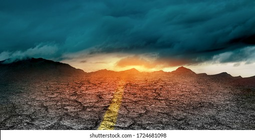 danger on the road concept of uncertainty and obscurity of future