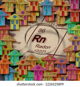 The danger of radon gas in our homes  - concept image
