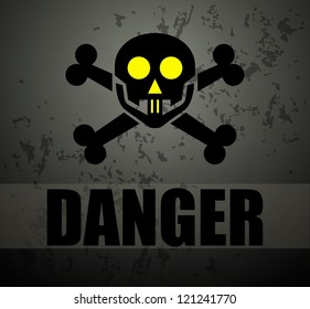Danger sign. Raster version of the loaded vector