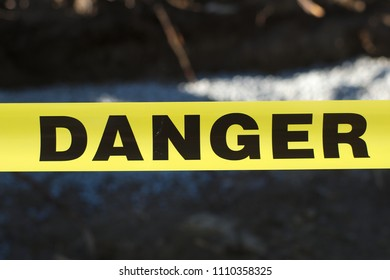 danger sign security line yellow forbidden access fence barrier restricted