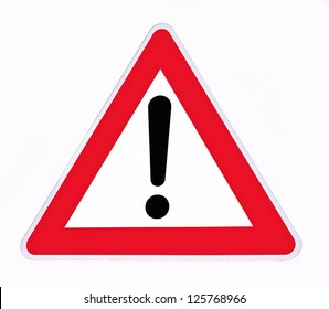 danger signal on a white background