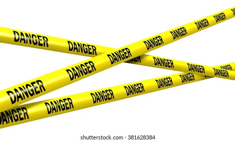 danger tape - isolated