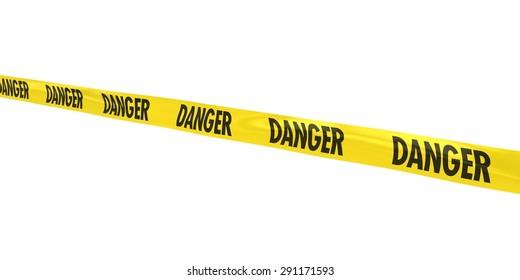 DANGER Tape Line at Angle