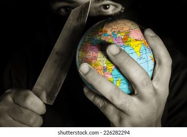 Danger terrorist for the world.