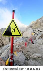 Danger way, Dolomites, Italy