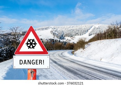Danger Winter Sign