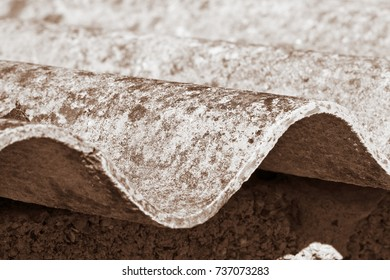 Dangerous asbestos roof detail - one of the most dangerous materials in the construction industry