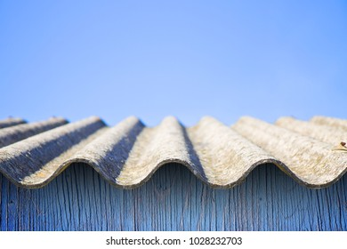 Dangerous asbestos roof - one of the most dangerous materials in buildings