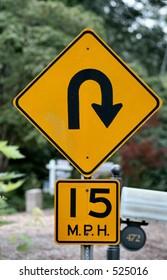 Dangerous Curve Sign