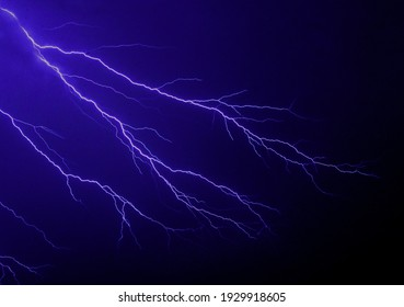 Dangerous lightning on a calm night