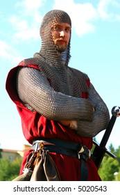 Dangerous medieval warrior