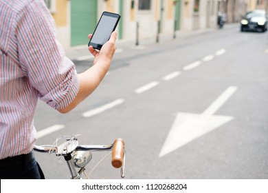 Dangerous mobile phone distraction in the city traffic , road safety concept