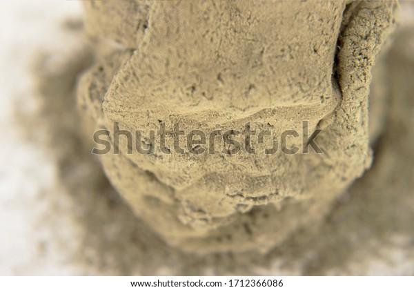 Dangerous mold on food macro background