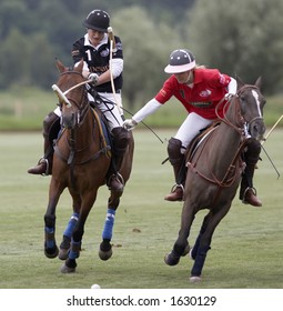 Dangerous moment during polo match