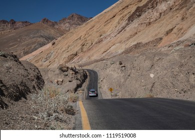 dangerous road in death valley national park california nevada
