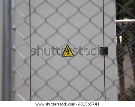 Dangerous Sign On Electrical Generator Stock Photo (Edit Now