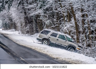 dangerous slippery and icy road conditions