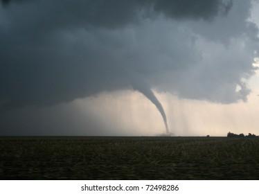 A dangerous tornado in tornado alley