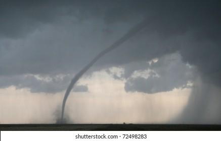 A dangerous tornado lurks on the horizon
