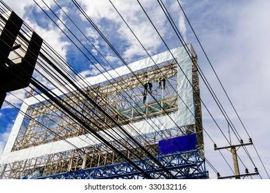 Dangerous work /  Giant billboards.