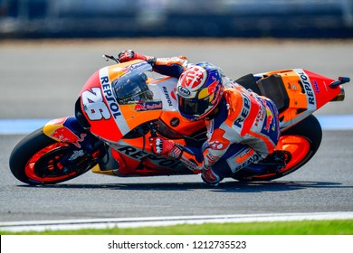 Dani Pedrosa no.26 of Spain and Repsol Honda Team in action during the Pre Practice The PTT Thailand Grand Prix - MotoGP at Chang International Circuit on October 6,2018 in Burirum,Thailand
