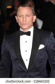 Daniel Craig arriving for the Royal World Premiere of 'Skyfall' at Royal Albert Hall, London. 23/10/2012