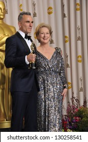 Daniel Day Lewis & Meryl Streep at the 85th Academy Awards at the Dolby Theatre, Los Angeles. February 24, 2013  Los Angeles, CA Picture: Paul Smith