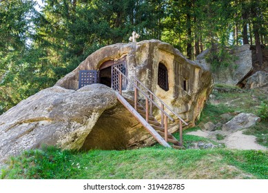 Daniel the Hesychast (Daniil Sihastru) hermitage cave near Putna Monastery. He guided many disciples in the principles of the spiritual life, and he also had the gift of healing the sick .