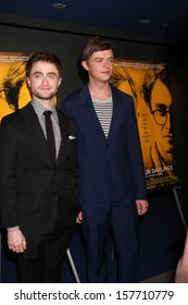 """Daniel Radcliffe and Dane DeHaan at the """"Kill Your Darlings"""" Premiere, Writers Guild Theater, Beverly Hills, CA 10-03-13"""