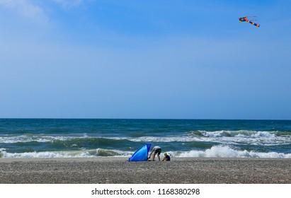 Danish beach  on summer