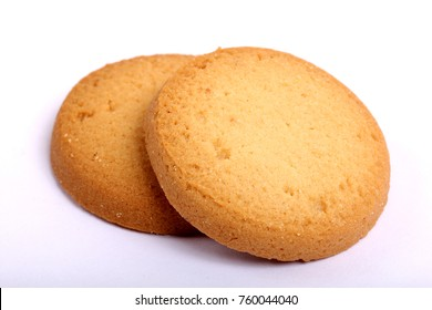 Danish butter cookies, butter cookies on white