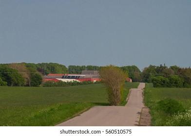 Danish countryside road